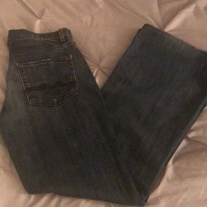 """7 for all Mankind """"Ginger"""" size 27 inseam 30 in"""
